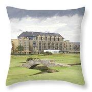 Golf Hotel, St Andrews Throw Pillow