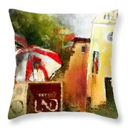 Golf In Club Fontana Austria 01 Dyptic Part 02 Throw Pillow