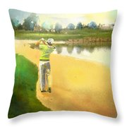 Golf In Club Fontana Austria 02 Throw Pillow