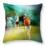 Golf In Club Fontana Austria 03 Throw Pillow