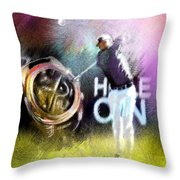 Golf In Crans Sur Sierre Switzerland 03 Throw Pillow