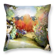 Golf In Gut Laerchehof Germany 02 Throw Pillow