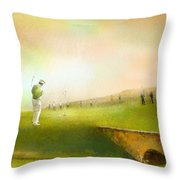 Golf In Scotland Saint Andrews 02 Throw Pillow