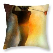 Golf In The Portugal Masters 01  Throw Pillow