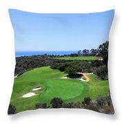Golf Is Rough At Pelican Hill Resort Throw Pillow