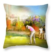 Golf Madrid Masters  02 Throw Pillow