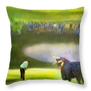 Golf Madrid Masters 03 Throw Pillow