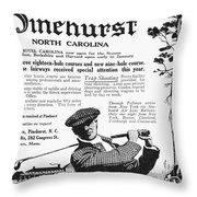 Golf: Pinehurst, 1916 Throw Pillow