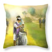 Golf Vivendi Trophy In France 03 Throw Pillow