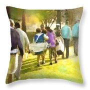 Golf Vivendi Trophy In France 04 Throw Pillow