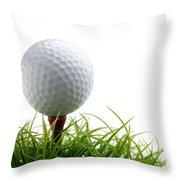 Golfball Throw Pillow by Kati Molin