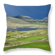 Golfing And Grazing Throw Pillow