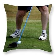 Golfing Driving The Ball In Flight Throw Pillow