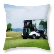 Golfing Golf Cart 03 Throw Pillow