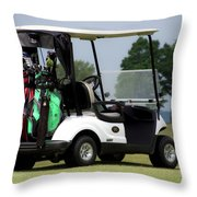 Golfing Golf Cart 05 Throw Pillow