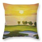 Golfing Heaven Throw Pillow