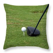 Golfing Lining Up The Driver Throw Pillow