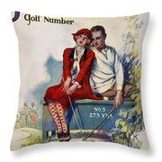 Golfing: Magazine Cover Throw Pillow