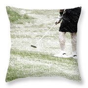 Golfing Putting The Ball 01 Pa Throw Pillow
