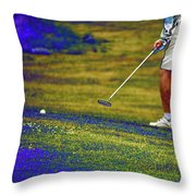 Golfing Putting The Ball 02 Pa Throw Pillow