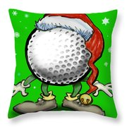 Golfmas Throw Pillow