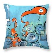 Golfo Eggd Throw Pillow