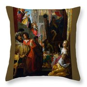 Daniel And Cyrus Before The Idol Bel Throw Pillow