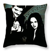 Gomez And Morticia Addams Throw Pillow