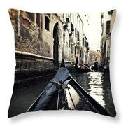 gondola - Venice Throw Pillow by Joana Kruse