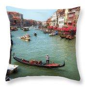 Gondola On The Grand Canal Throw Pillow