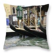Gondola Pier Throw Pillow