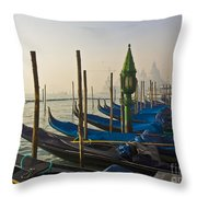 Gondolas At San-marco, Venice, Italy Throw Pillow