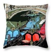 Gondolas Fresco  Throw Pillow