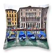 Gondolas Galore Throw Pillow