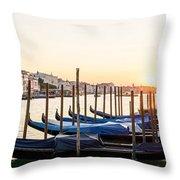 Gondolas Sunrise 00323 Throw Pillow