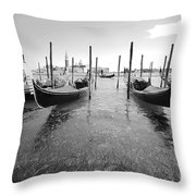Gondolier In The Distance Throw Pillow