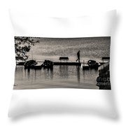 Gone Fishin' Throw Pillow