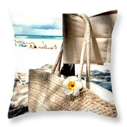 Gone For A Swim Throw Pillow