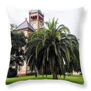 Gonzales County Court House Throw Pillow