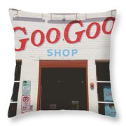 Goo Goo Shop- Photography By Linda Woods Throw Pillow