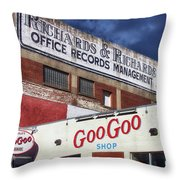 Goo Goo Shop Throw Pillow