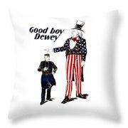 Good Boy Dewey Throw Pillow