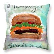 Good Burger Throw Pillow