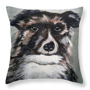 Good Dog By Christine Lites Throw Pillow
