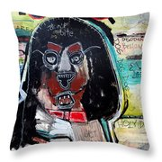 Good Dog Throw Pillow by Rick Baldwin