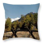 Good Fences Make Good Neighbors .... Robert Frost Throw Pillow