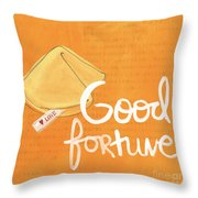Good Fortune Throw Pillow