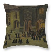 Good Friday Early Morning In Orduna Throw Pillow