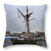 Good Friends Sailboat South Haven Throw Pillow