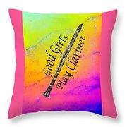 Good Girls Play Clarinet 5028.02 Throw Pillow
